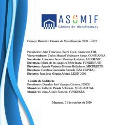 Consejo Directivo Cámara de Microfinanzas 2020-2022