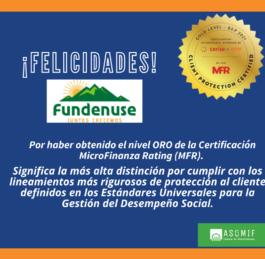 MRF certifica a FUNDENUSE